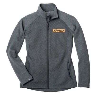 Ladies Diamond Fleece Jacket Gry