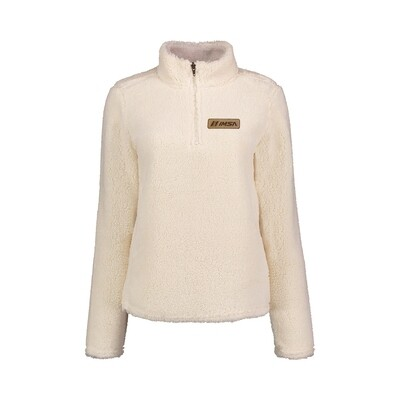 Ladies Sherpa 1/4 Zip Ivory