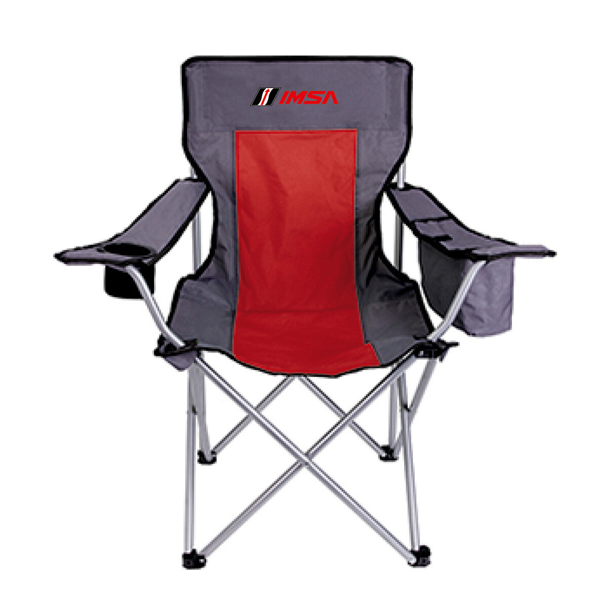 IMSA Camp Chair - Red/Grey