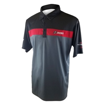 IMSA Colorblock Polo-Blk/Red/Gry