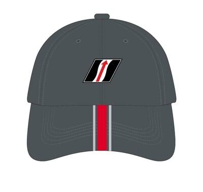 IMSA Liquid Metal Logo Hat - Grey/Red