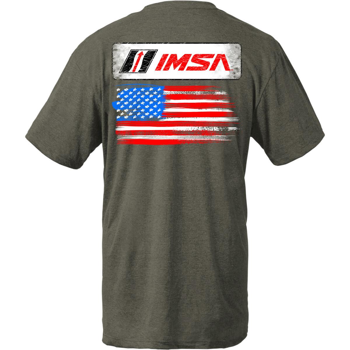 IMSA Flag Design Olive Heather-Medium