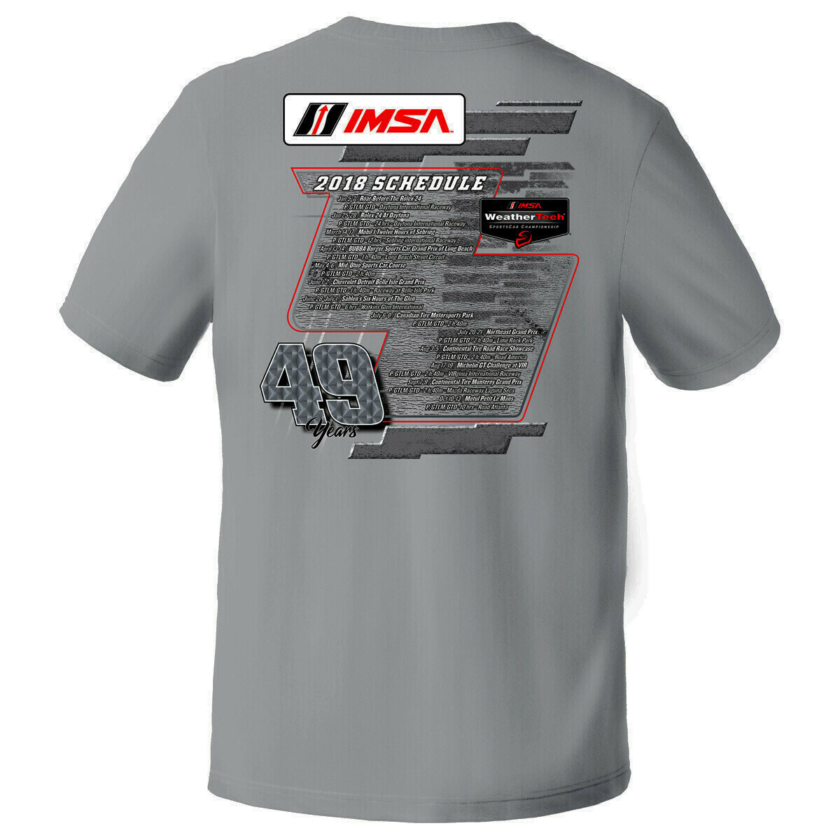 IMSA Schedule Design Tee-Sport Grey-Small
