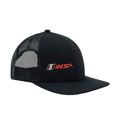 IMSA Flat Bill Hat Right Panel Logo - Black
