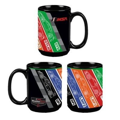 IMSA 5 Car Coffee Cup - Black