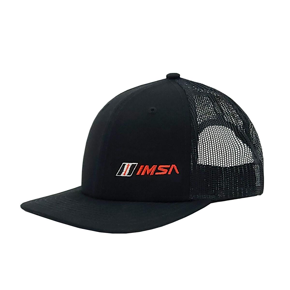IMSA Flat Bill Hat Left Panel Logo - Black