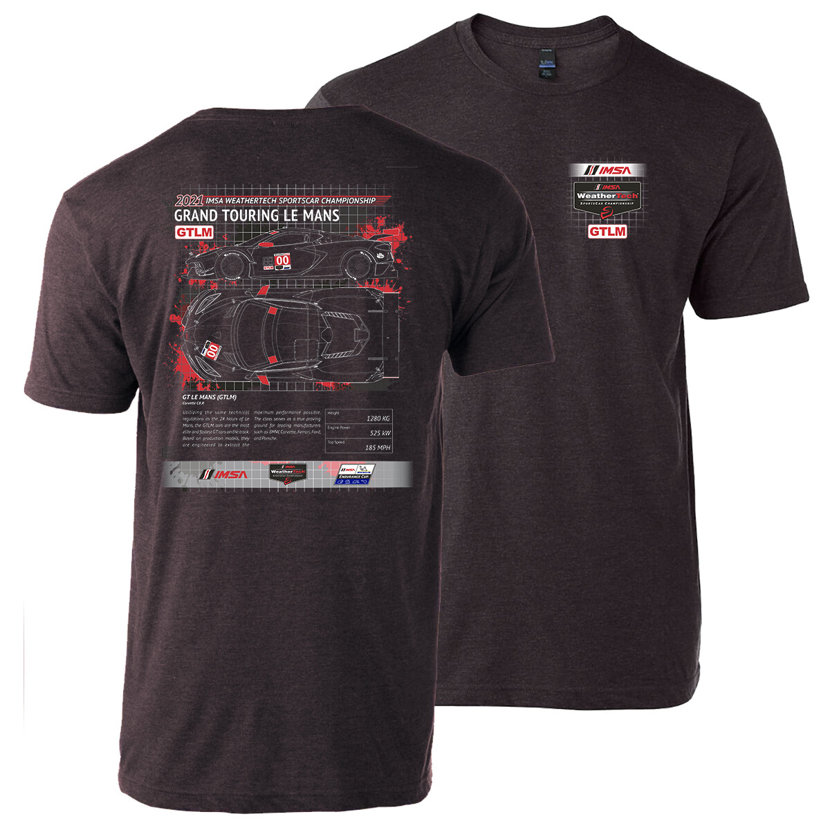 GTLM Tech Tee-HthrGraphite
