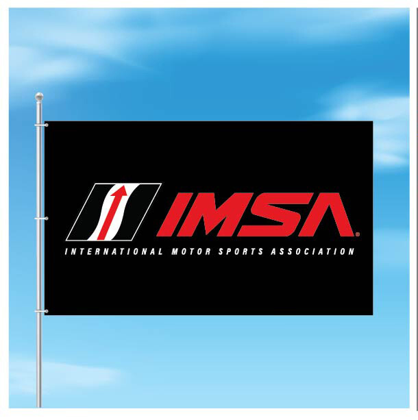 IMSA 3x5 Logo Flag-Black