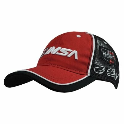 IMSA Track Outlines Hat - Red/Black/White