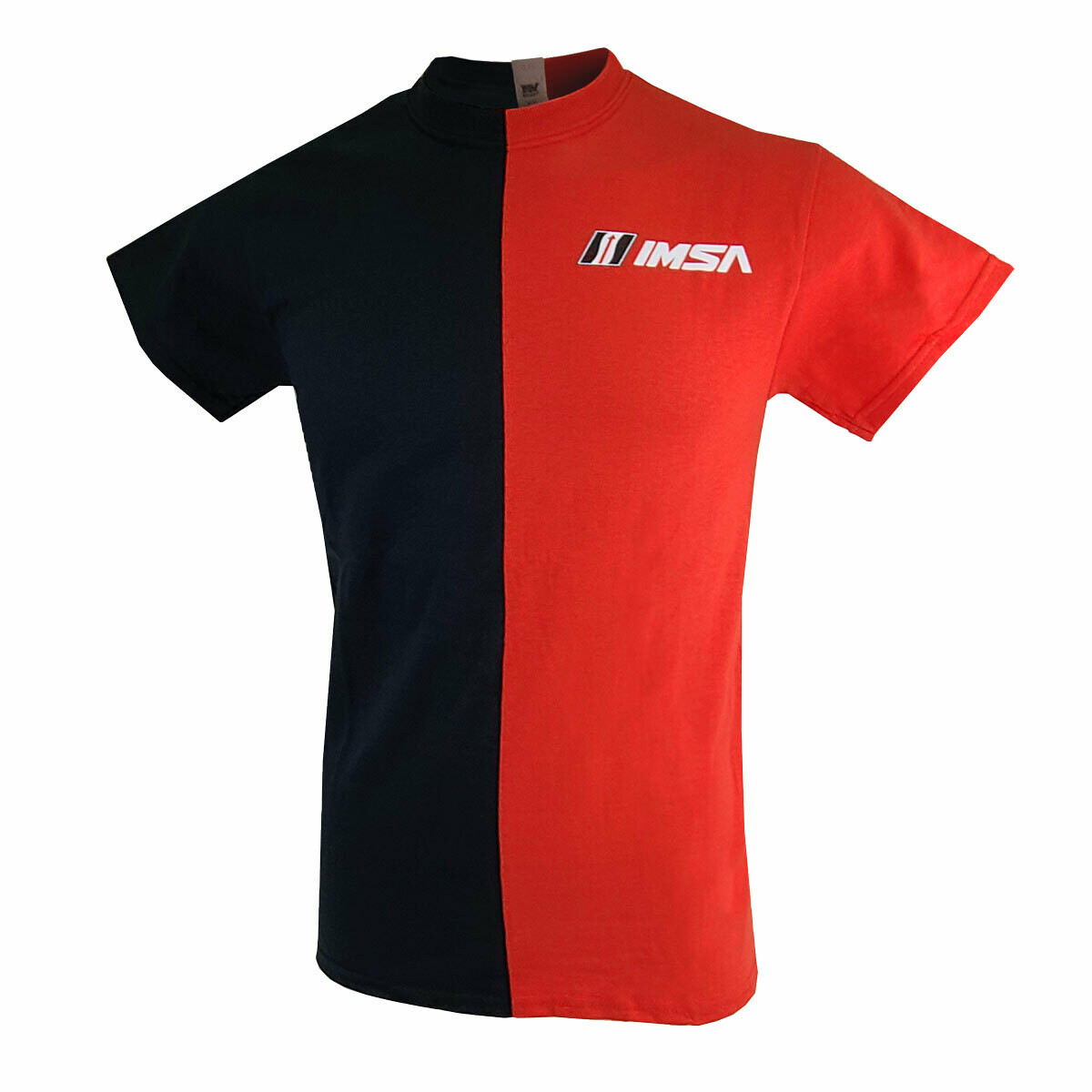IMSA Split Tee- Black/Red