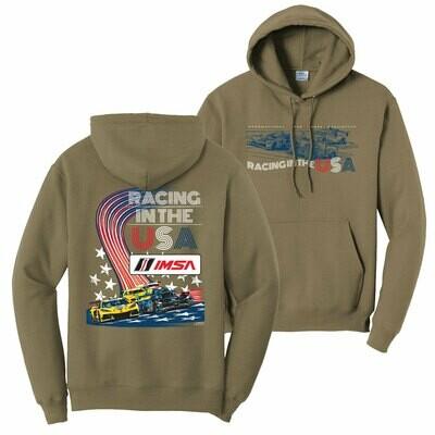 Racing USA Hoodie - Tan