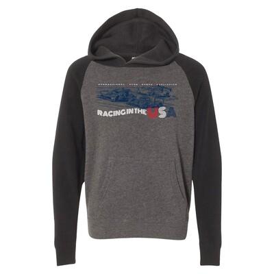 Youth Racing USA Hoodie-Grey