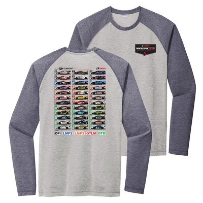 Car Spotter Long Slv T-Grey/Navy