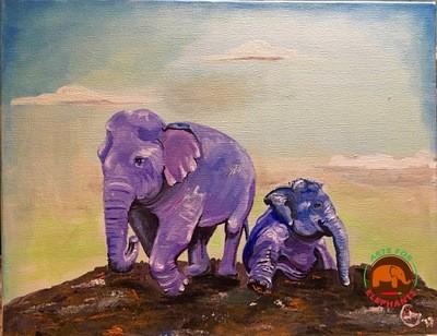 Kabu & Navaan- Original Acrylic on Canvas T. Rutter