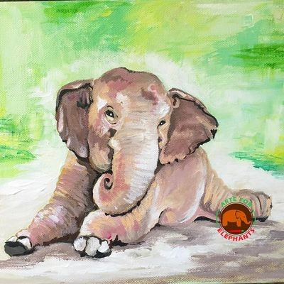SOLD-- Kabu at Rest- Original Acrylic Painting