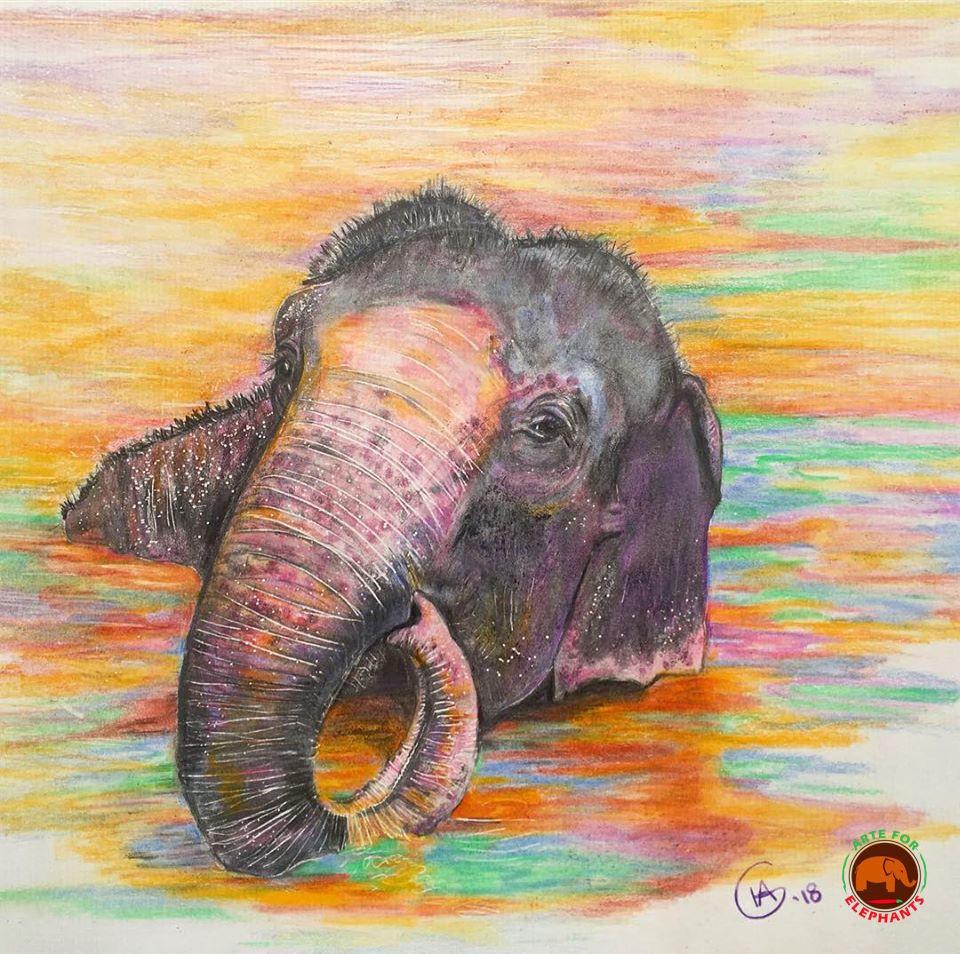 Maia Pond Blob Large Fine Art Print-