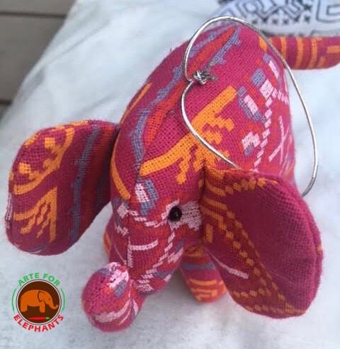 Tribal Stuffed Elephants, Hand Made (1) HURRY THEY SEL OUT FAST PRE-ORDER