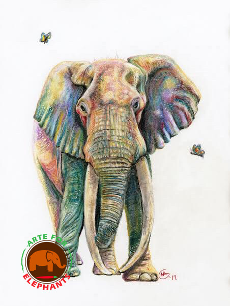 Last of the Great Tuskers Fine Arte Print