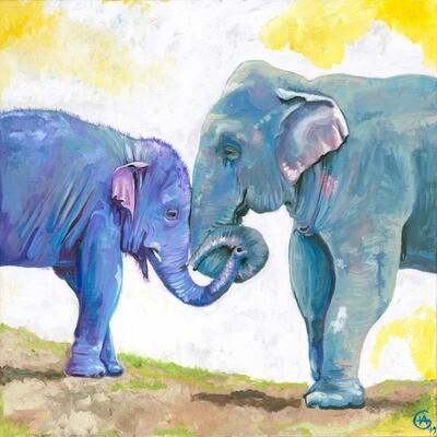 Navaan & His Mum-Large Fine Art Print