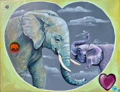 Eternal Heart- African Original Acrylic on Canvas