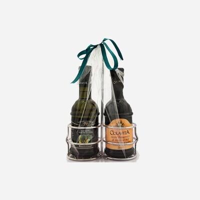 Balsamic vinegar and extra virgin olive oil gift set 2x250ml
