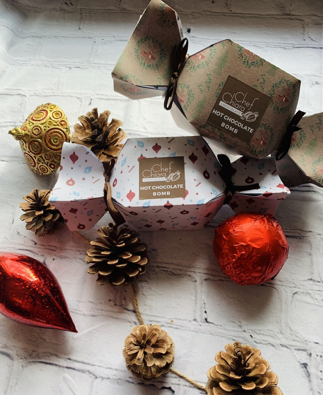 Christmas Crackers Hot Chocolate Bomb