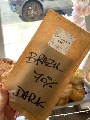 Brazil 70% Dark chocolate bar - 80gr