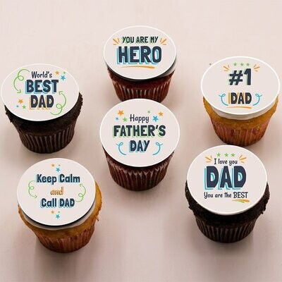 Father's day cupcakes - box of 6