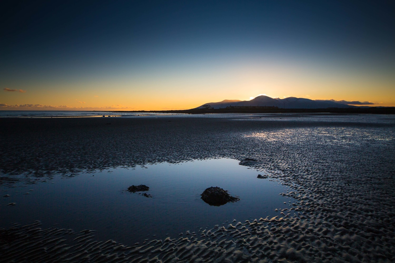 Tyrella Beach at sunset, Co.Down, N.Ireland