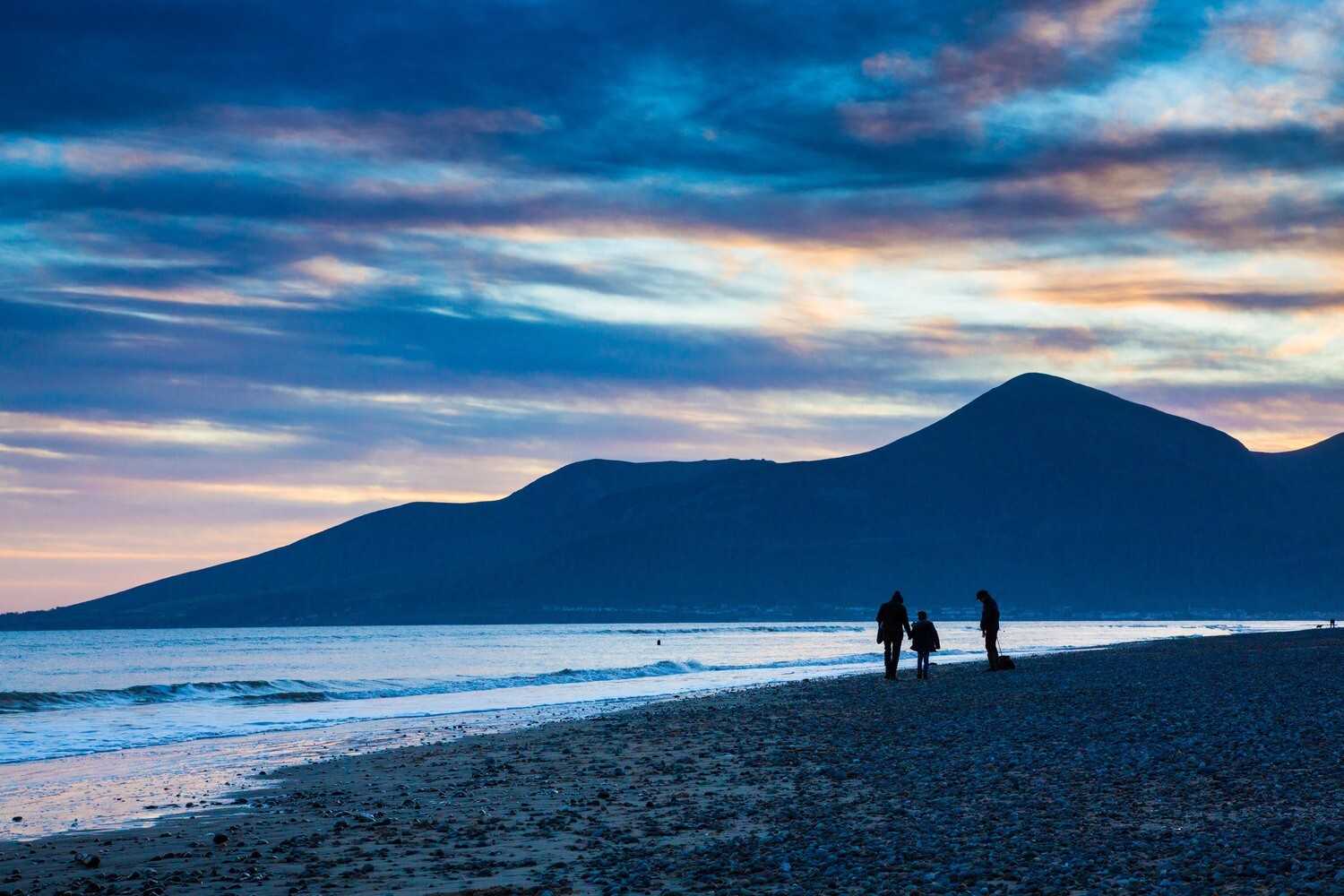 Keel Point at Sunset, County Down, N.Ireland printed