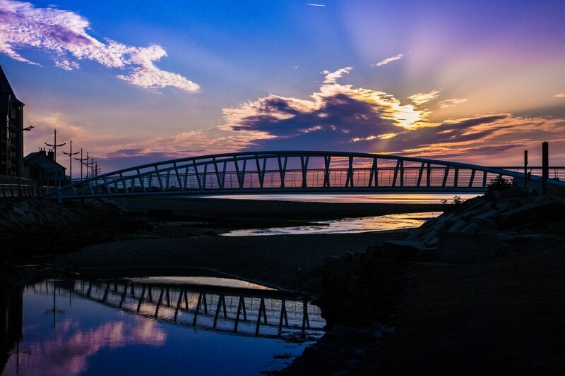 The Bridge, Newcastle, County Down, at sunrise