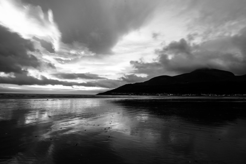 The Mourne Mountains on Newcastle Beach, Co.Down, Northern Ireland