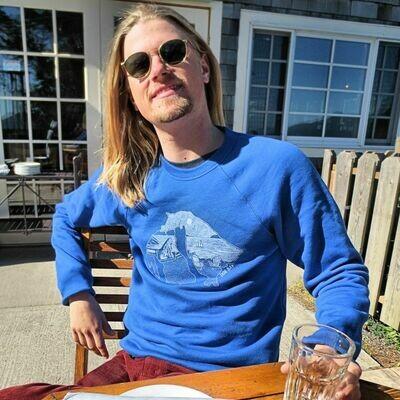 Adult Crew Neck Blue Sweatshirt
