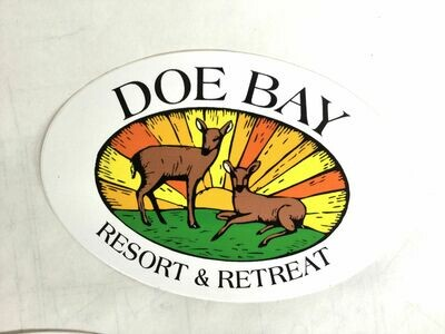 Doe Bay Resort & Retreat Logo Sticker in Color