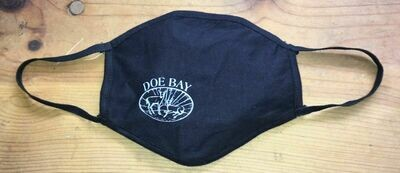 Face Mask - Black w/Doe Bay Logo