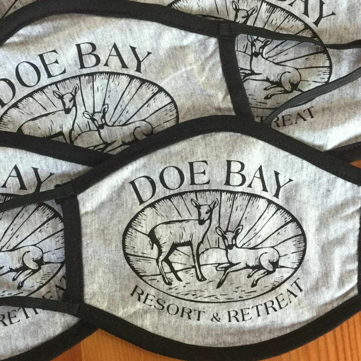 Face Mask - Gray w/Doe Bay Logo