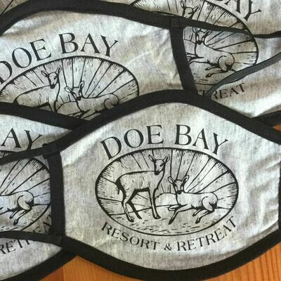 Face Mask - Gray w/Doe Bay Logo