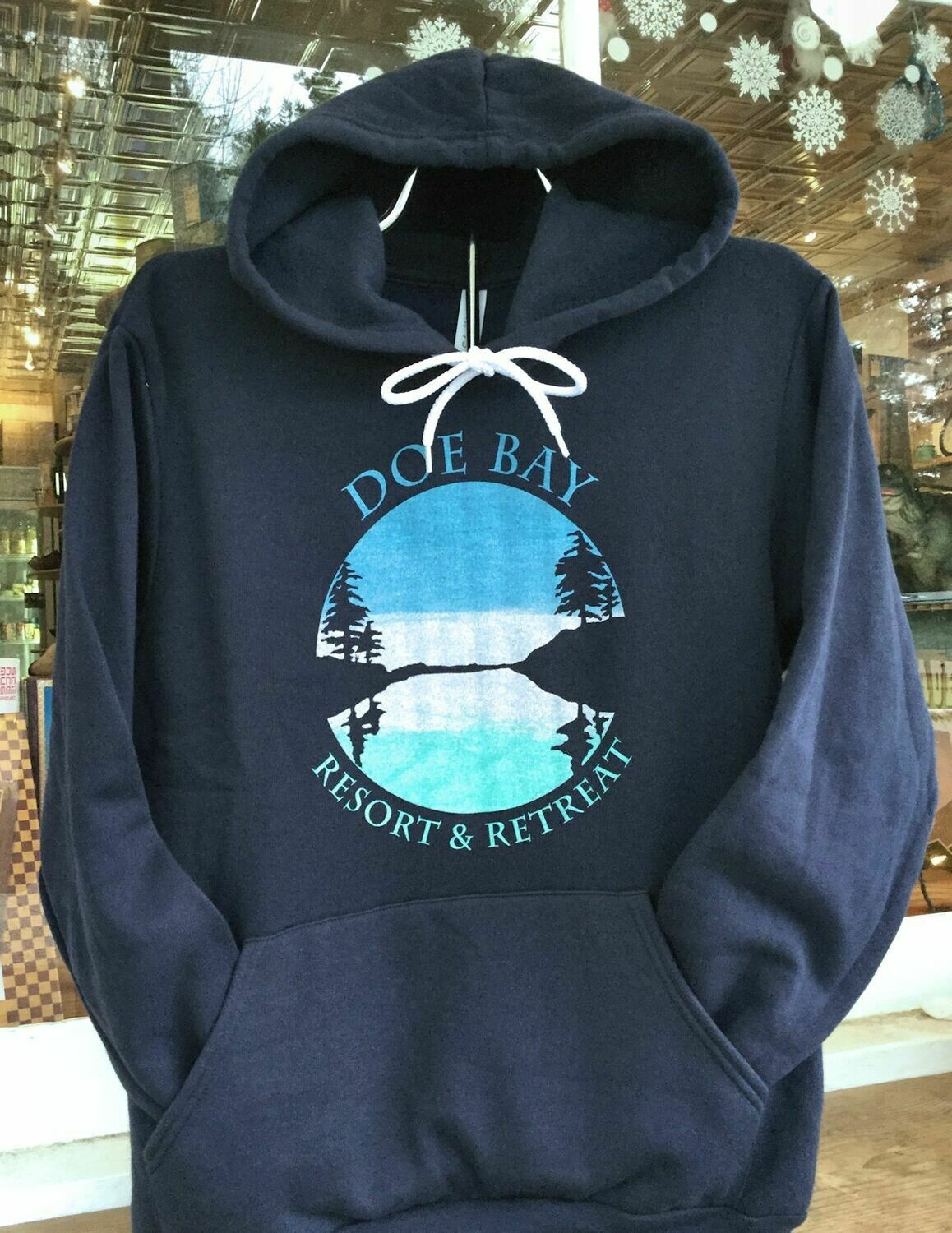 Navy Hoodie with Daytime Cove Design