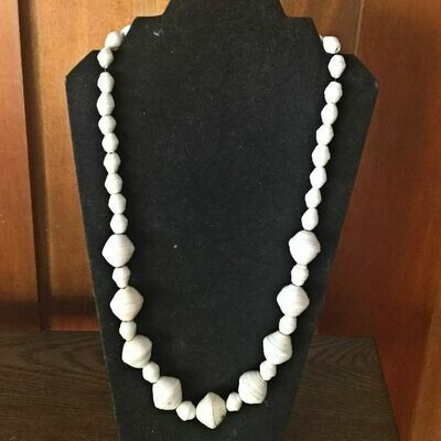 Paper beaded necklace