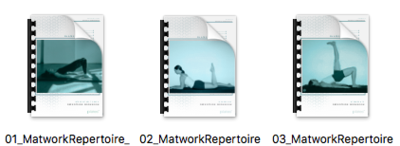 Matwork Repertoire Workbooks