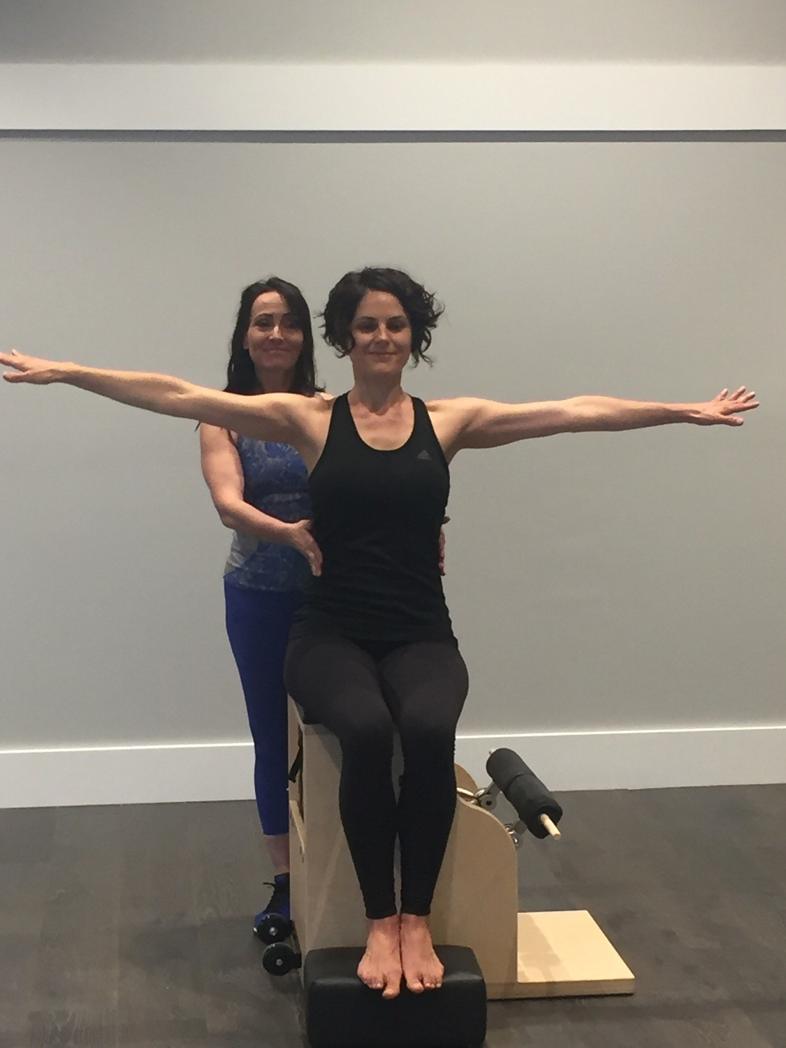 On the Pilates Chairs