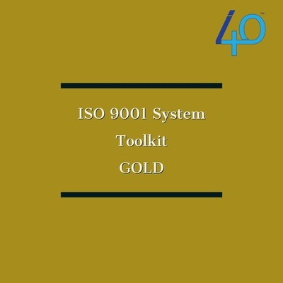 ISO 9001:2015 Premium Documentation Toolkit - GOLD Including 4 X 1 hour one to one guidance sessions with a dedicated ISO expert  Price includes GST
