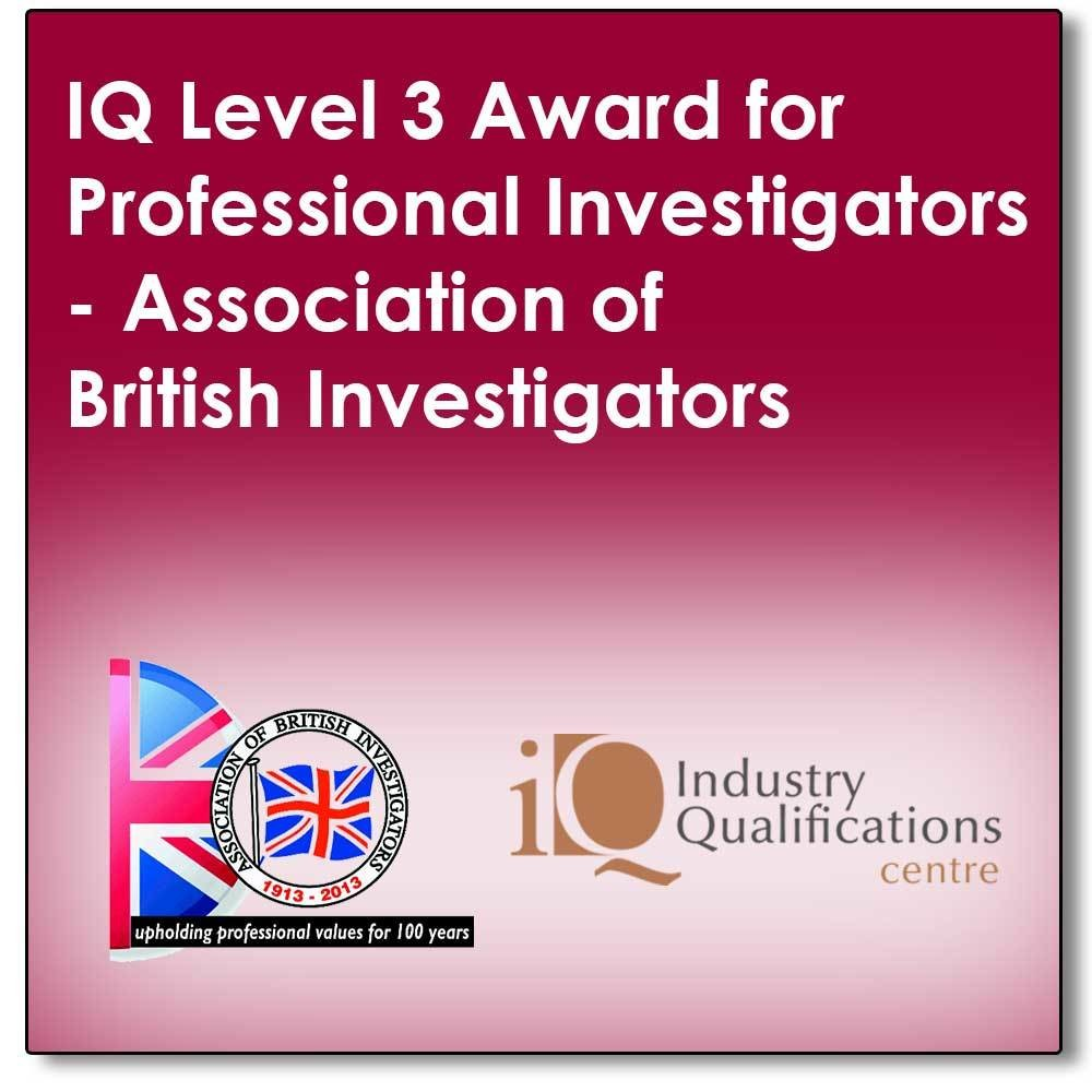 A Distance Learn programme leading to a final exam to achieve an industry recognised qualification in Professional Private Investigations (The SFJ IQ Level 3 Award for Professional Investigators)