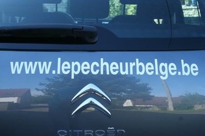 """Autocollant pour voiture """"Le Pêcheur Belge"""""""