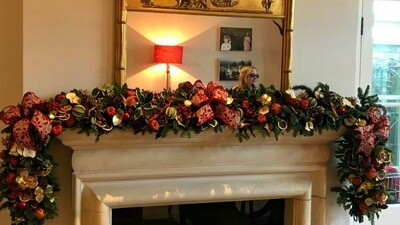 Luxury fireplace garland