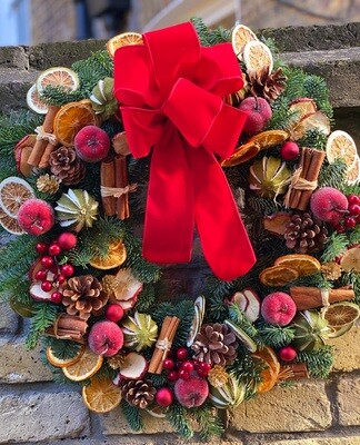 Spirit of Christmas door wreath