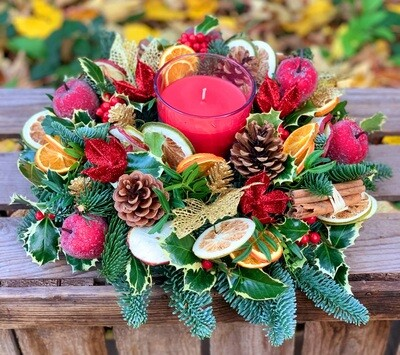 Christmas Carol  table arrangement
