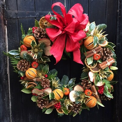 Yuletide door wreath