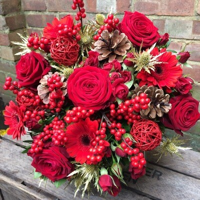 Mulled wine hand tied bouquet