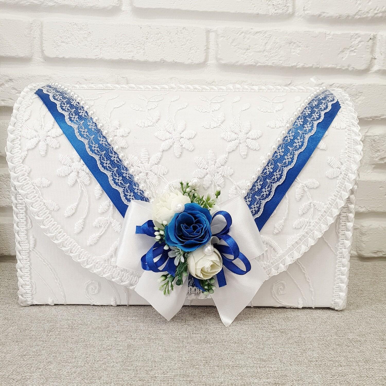 Семейный банк (белый с голубыми цветами)